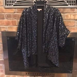 Black sequin evening jacket/kimono